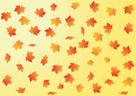 fallow: Vector autumn background with maple leaves Stock Photo