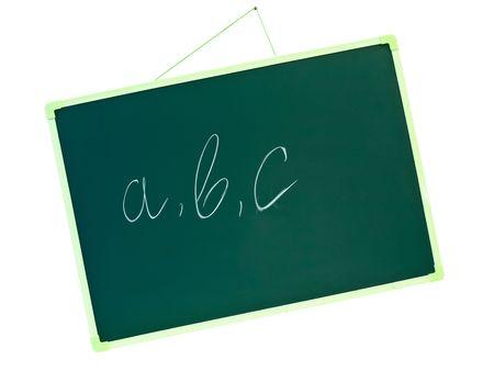 green school blackboard with letters a b c  photo