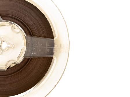 bobbin: old music bobbin against the white background