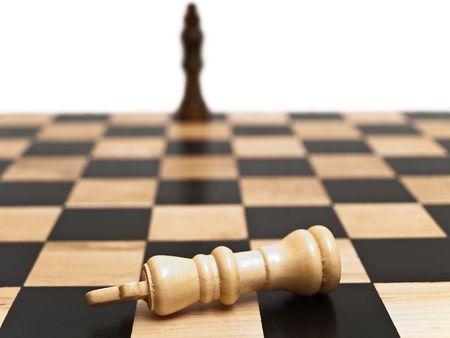 Schachmatt: Foto von der Schach-Brett mit Matt