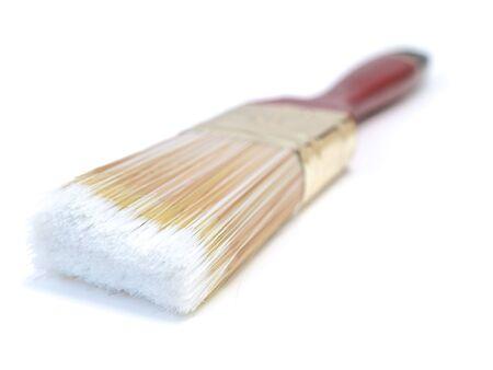 bristle: Single bristle in close up at the white Stock Photo
