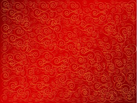 vector abstract background in red and gold photo