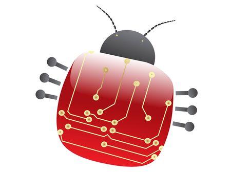 Vector electric scheme in bug design illustration Stock Illustration - 4376324