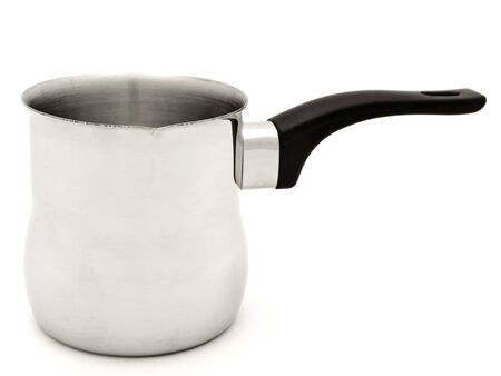 percolator: phorto of Turkish percolator over the white background Stock Photo