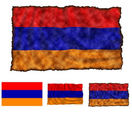 Illustration of national color of Armenia in three different styles illustration