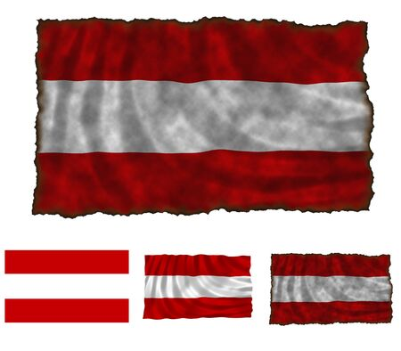 Illustration of national color of Austria in three different styles Stock Illustration - 4486231