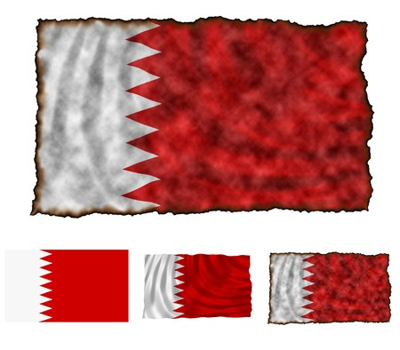Illustration of national color of Bahrain in three different styles Stock Illustration - 4486240