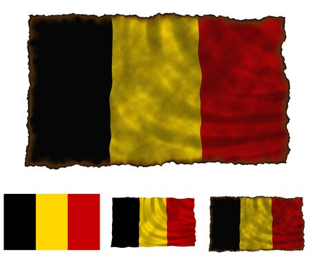 Illustration of national color of Belgium in three different styles illustration