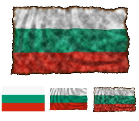 Illustration of national color of Bulgaria in three different styles illustration
