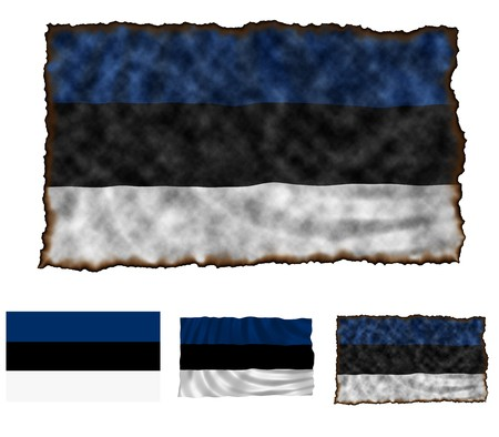 Illustration of national color of Estonia in three different styles illustration