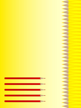 notebook cover: Vector notebook cover design with red and yellow pencils