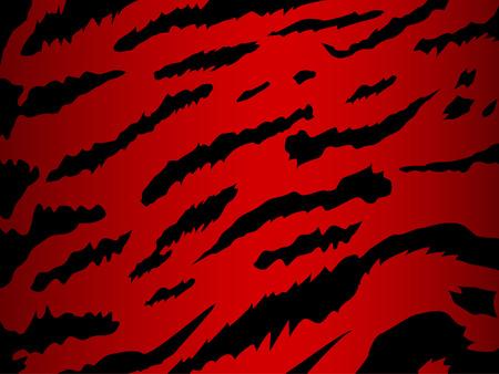 rebeldia: vectoriales de fondo en la piel de tigre rojo Vectores