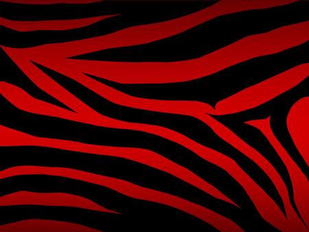 vector zebra background in red Stock Vector - 4501228