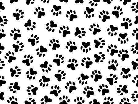 huellas de animales: perfecta ilustraci�n de las l�minas m�s salvaje negro