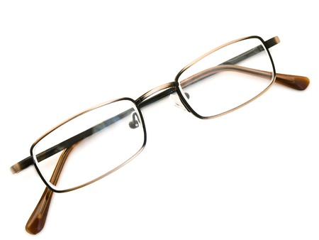 modern glasses in metallic frame over the white background Stock Photo - 4563287