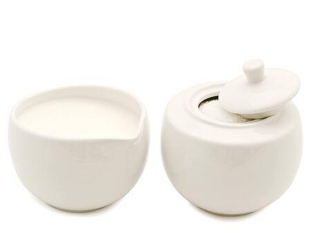delftware: shugar nella ciotola di zucchero bianco e crema
