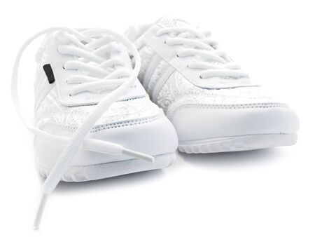 pair of running shoes over the white background  Stock Photo - 4633563