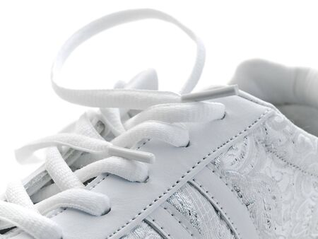 pair of running shoes over the white background Stock Photo - 4633607