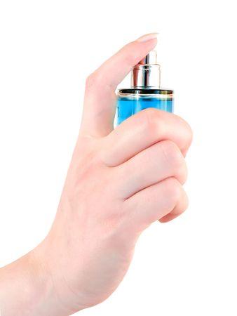 woman sprinkle perfume Stock Photo - 4760787