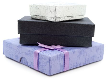 multicolored gift boxes against the white background Stock Photo - 4760771