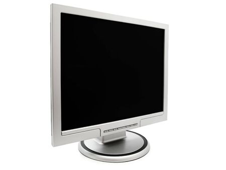 single pc monitor against the white background Stock Photo - 5040224