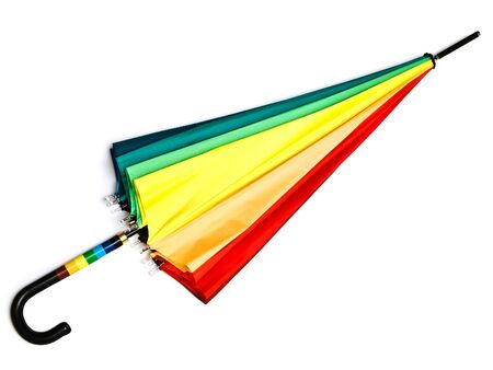 Photo of the multicolored closed umbrella against the white background Stock Photo - 5160158