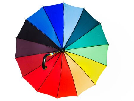 multicolored umbrella against the white background Stock Photo - 5203510