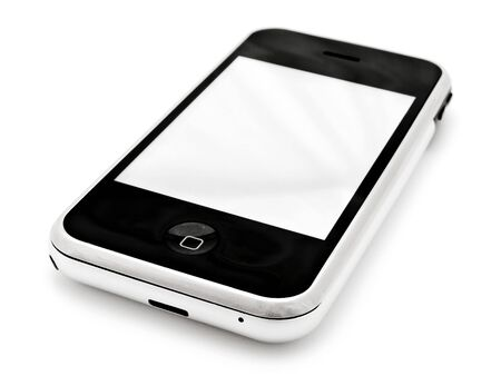 mobile phone with blank screen over white Stock Photo - 5702594