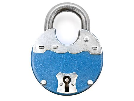 metal padlock against the white background Stock Photo - 5729564