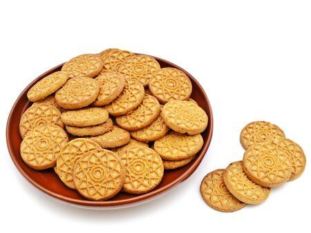 spicecake: cookies de la especia en placa de limo contra el fondo blanco  Foto de archivo