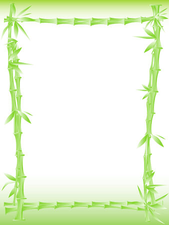 Illustration of bamboo border with copy space for your text Vector