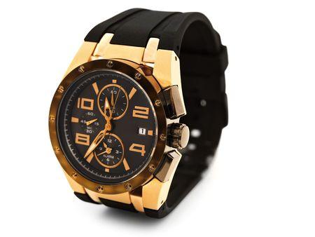 wristwatch: luxury man watch against white background