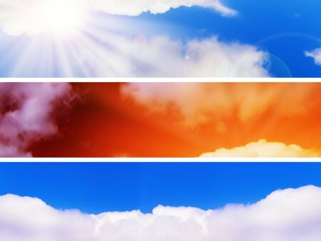 set of three different web sky banners  photo