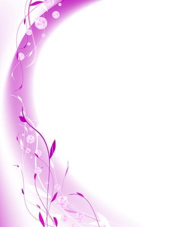 the violet: cuadro abstracto de moda diamante floral en violeta