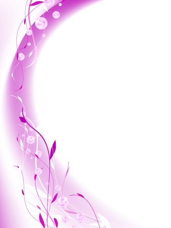 fashion diamond floral abstract frame in violet Illustration