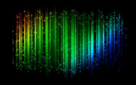 gamut: multicolored sparkling abstract wave background Stock Photo