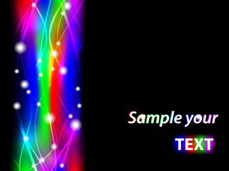 lightening: marco multicolor ondulado abstracta con alivio. Copyspace para el texto  Vectores