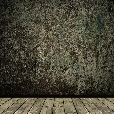 grunge floor and wall in old room Archivio Fotografico