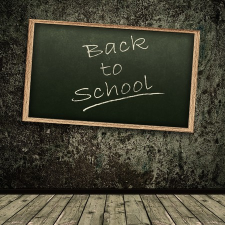 Photo of abstract grunge shabby background with school blackboard Stock Photo - 7049897