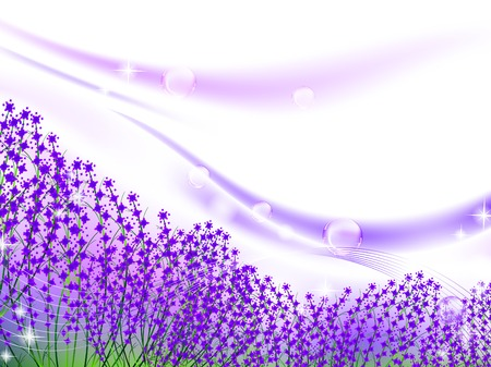 bubbly: abstract lavender inspiration bubbly scenery, EPS 10