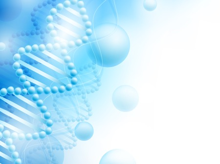 science background with DNA theme and copyspace for your text, EPS10