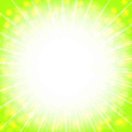 shiny abstract explosion with copyspace in light green and yellow Vector