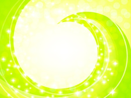 shiny abstract frame with copyspace in light green and yellow Vector