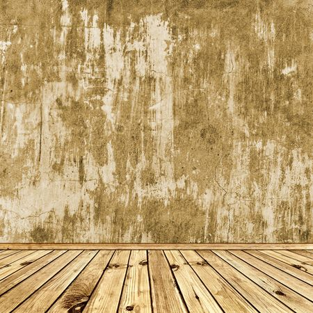 woodn floor and wall in old room Stock Photo - 7350313