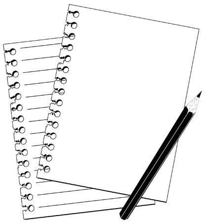 note and pencil Vettoriali
