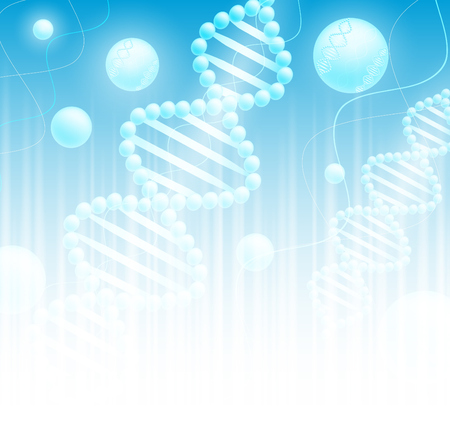 science background with DNA theme and copyspace for your text  Vector