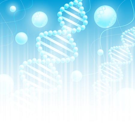 gene: wetenschap achtergrond met DNA thema en copyspace voor uw tekst