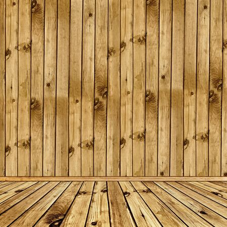 Photo of empty natural wooden interior  photo