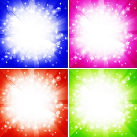 bright abstract explosion over multicolored copyspace  Stock Vector - 7854858