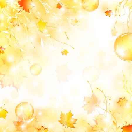 autumnally: nature floral air background with bubbles